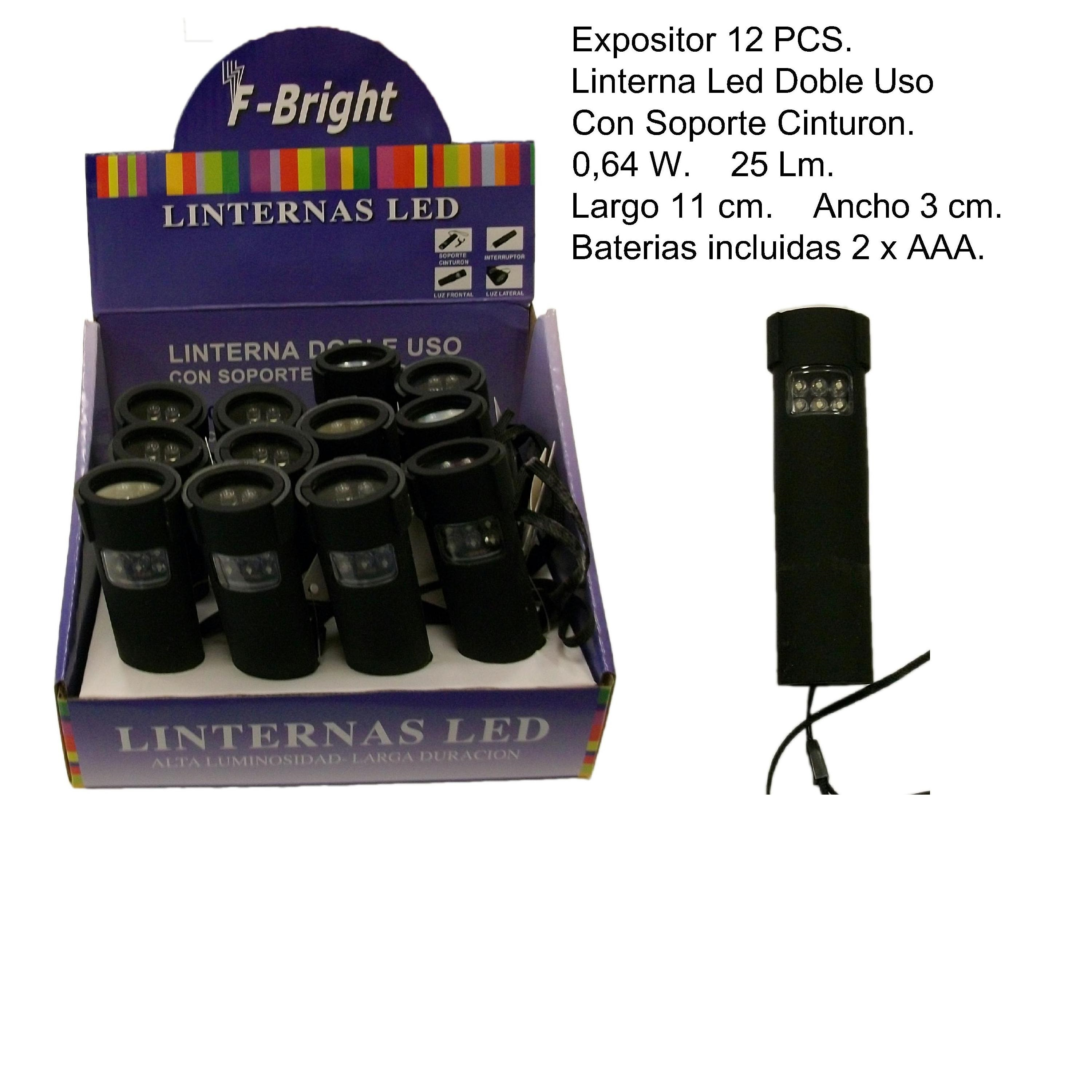 EXP.12 LINTERNAS LED LUZ FRONTAL+LATERAL
